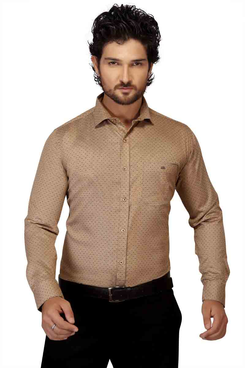 BT HARDIK-BROWN FORMAL SHIRT