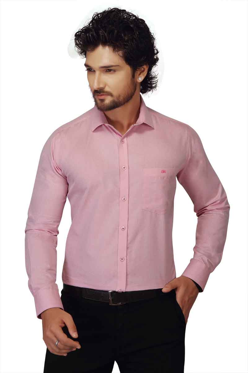 BT HARDIK-PINK FORMAL SHIRT