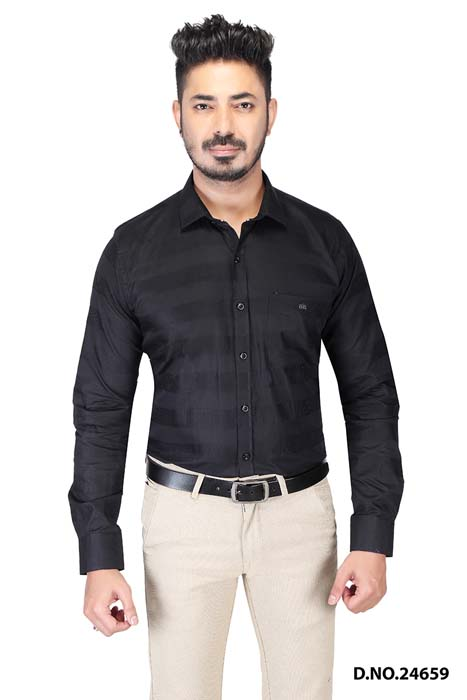 BT MAAN TEX 03-BLACK FORMAL SHIRT