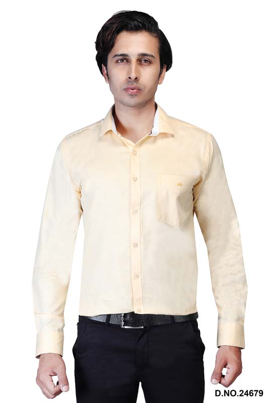 BT MAAN TEX 04-FAWN FORMAL SHIRT