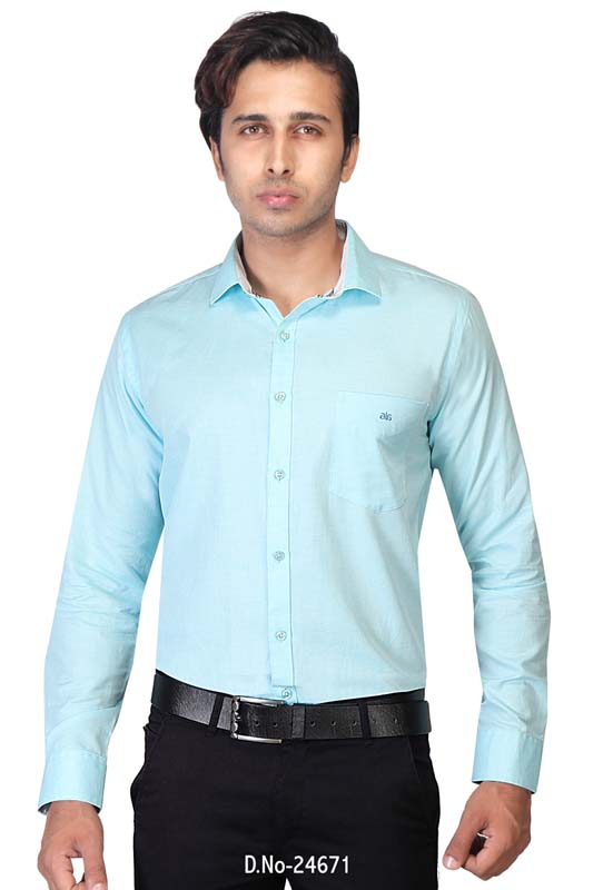 BT MAAN TEX 04-ICE BLUE FORMAL SHIRT