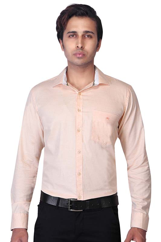 BT MAAN TEX 04-PEACH FORMAL SHIRT