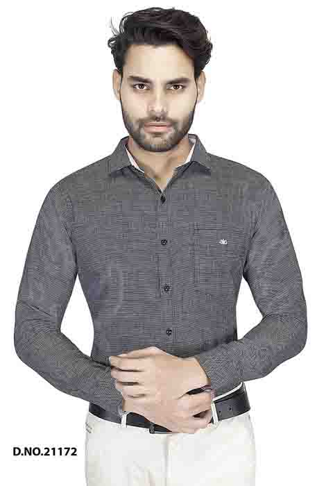 BT MAN TEX 02-BLACK FORMAL SHIRT