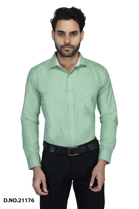 BT MAN TEX 02-GREEN FORMAL SHIRT