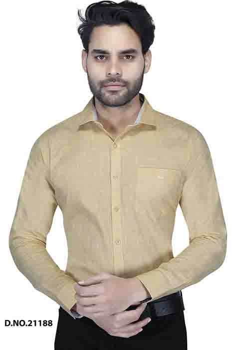 BT MAN TEX 02-LEMON FORMAL SHIRT