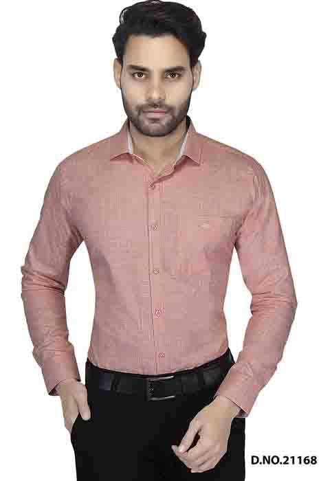 BT MAN TEX 02-RED FORMAL SHIRT