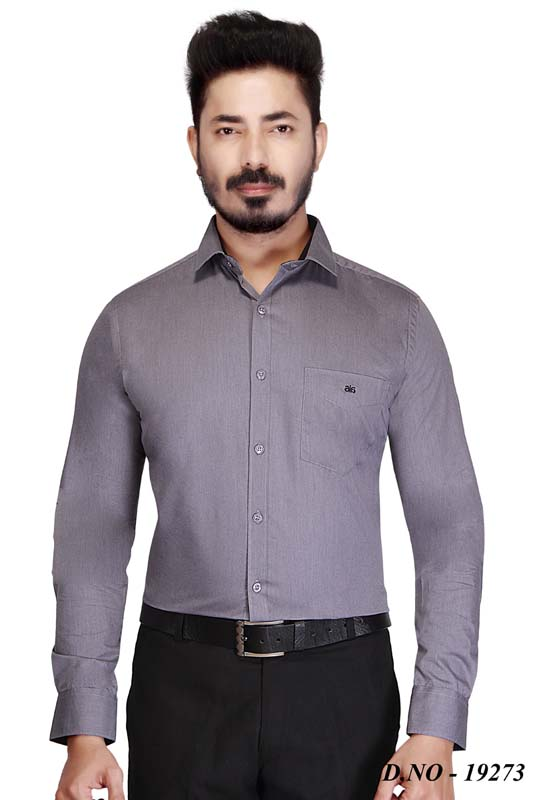 BT MAN TEX-GRAY FORMAL SHIRT
