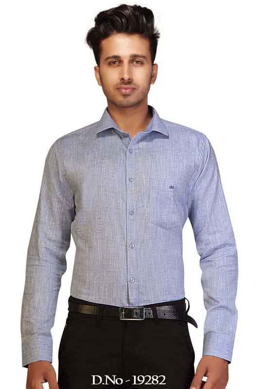 BT MAN TEX-NAVY BLUE FORMAL SHIRT
