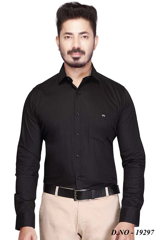 BT MAN TEX-BLACK FORMAL SHIRT