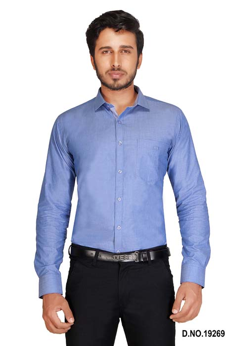 BT MAN TEX-BLUE   FORMAL SHIRT
