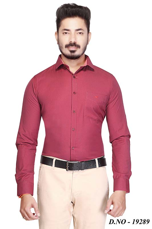 BT MAN TEX-MAROON FORMAL SHIRT