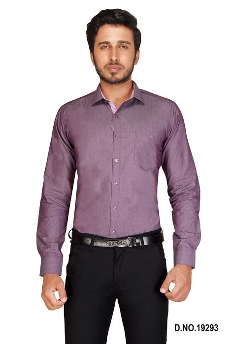 BT MAN TEX-PURPLE FORMAL SHIRT