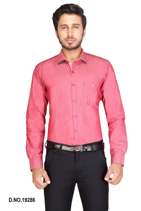BT MAN TEX-RED FORMAL SHIRT