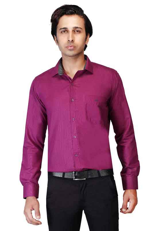 BT N TEX 01-PURPLE FORMAL SHIRT