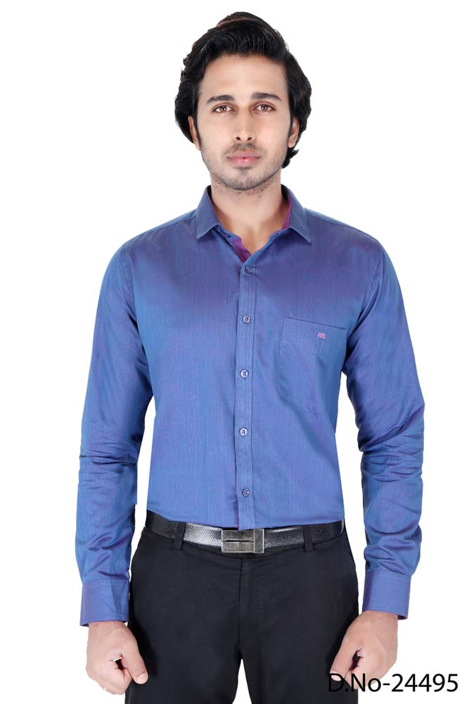 BT RAPIER 05-BLUE FORMAL SHIRT