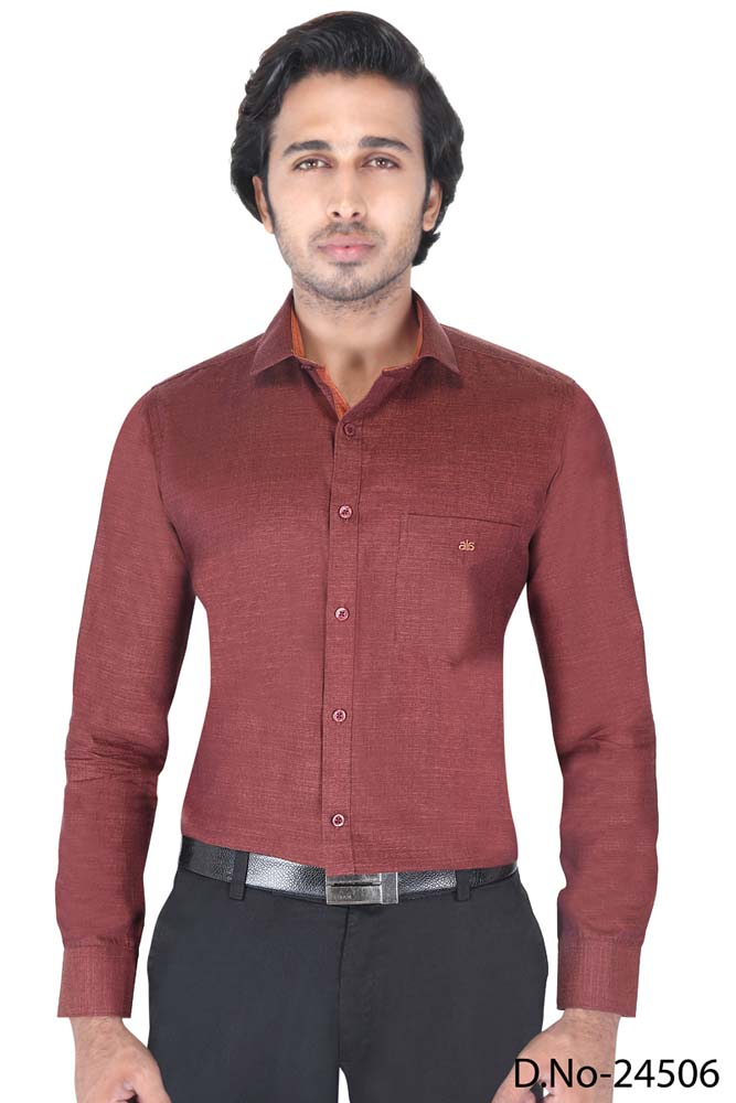 BT RAPIER 05-BROWN FORMAL SHIRT