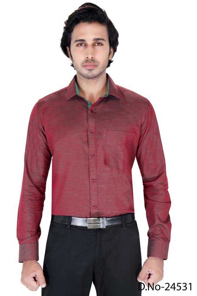 BT RAPIER 06-MAROON FORMAL SHIRT