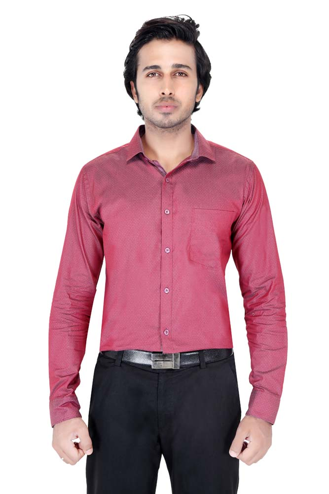 BT RAPIER FEB 01-DARK MAROON FORMAL SHIRT