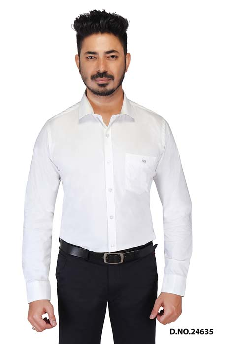 BT SHYAM 01-WHITE DOT FORMAL SHIRT