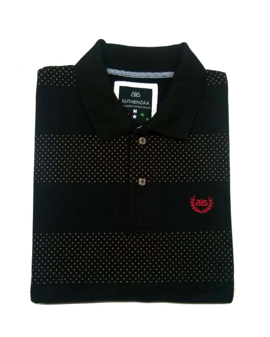 AI A 115-BLACK POLO T SHIRT