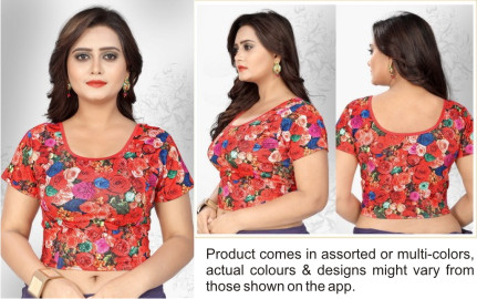 FANCY HC 1002-D NO 2 MIX WMN READYMADE MULTI PRINT BLOUSE