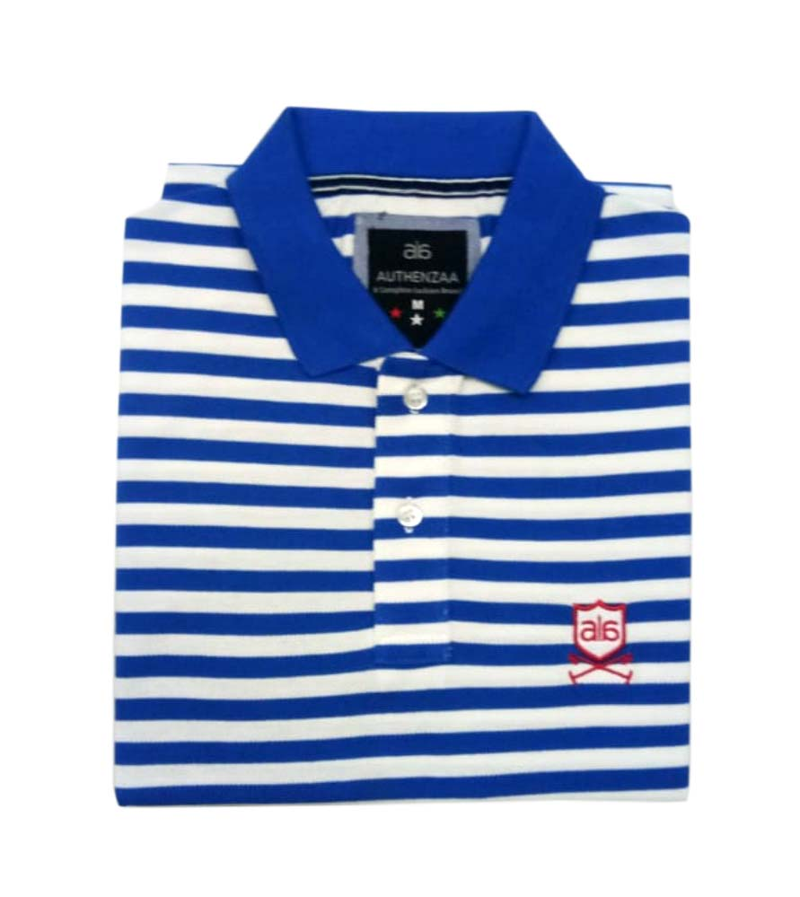 AI ST 130-ROYAL / WHITE POLO T SHIRT