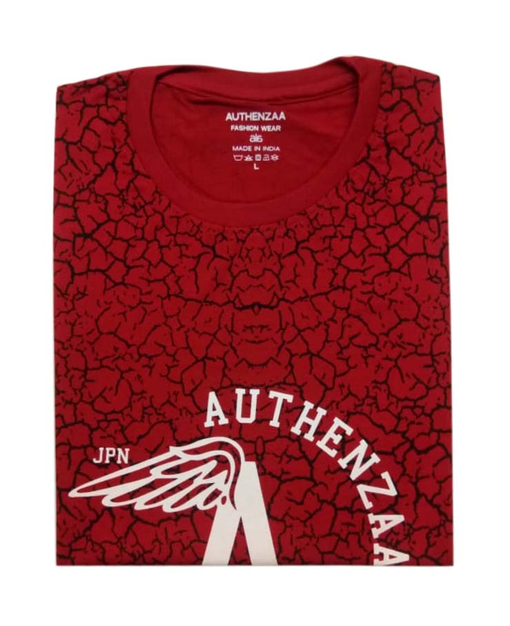 AI S 109-RED ROUND NECK T SHIRT