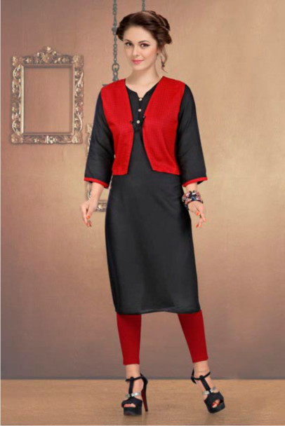 SUF CHX KOTI-BLUE WOMEN KURTI WITH JACKET