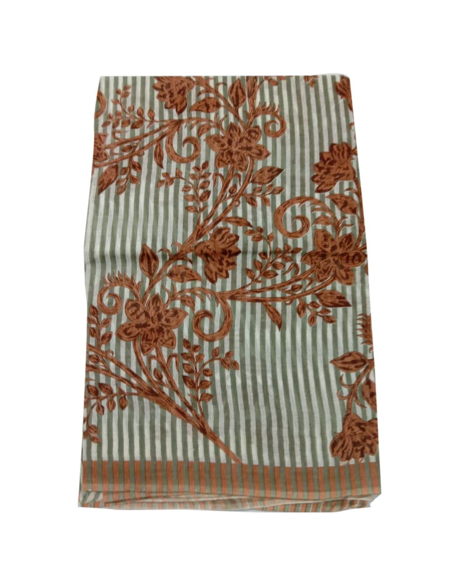 WOMENS SAREE WITHOUT BLOUSE-BROWN-WS COTTON 52 09 2019