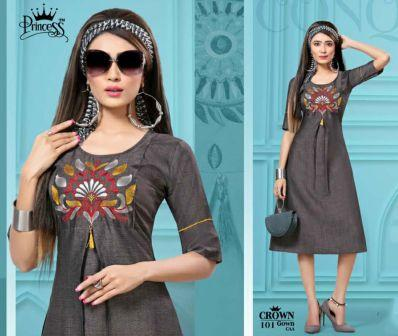 WMN KURTI SUF CROWN 2020 D NO 101