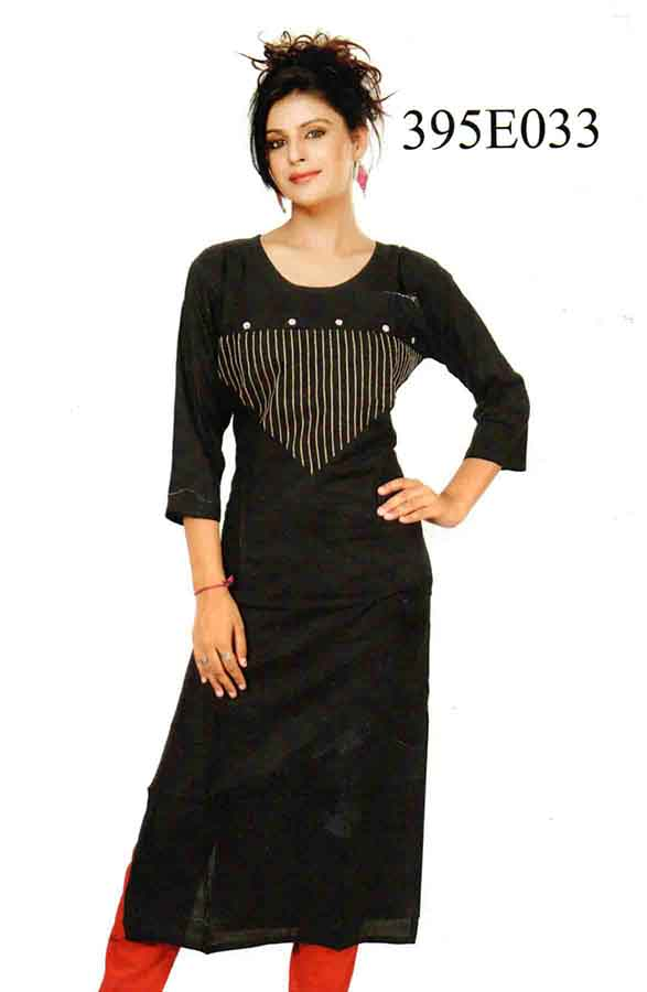 SMC DESIGN 395 E-BLACK STYLISH RAYON KURTI