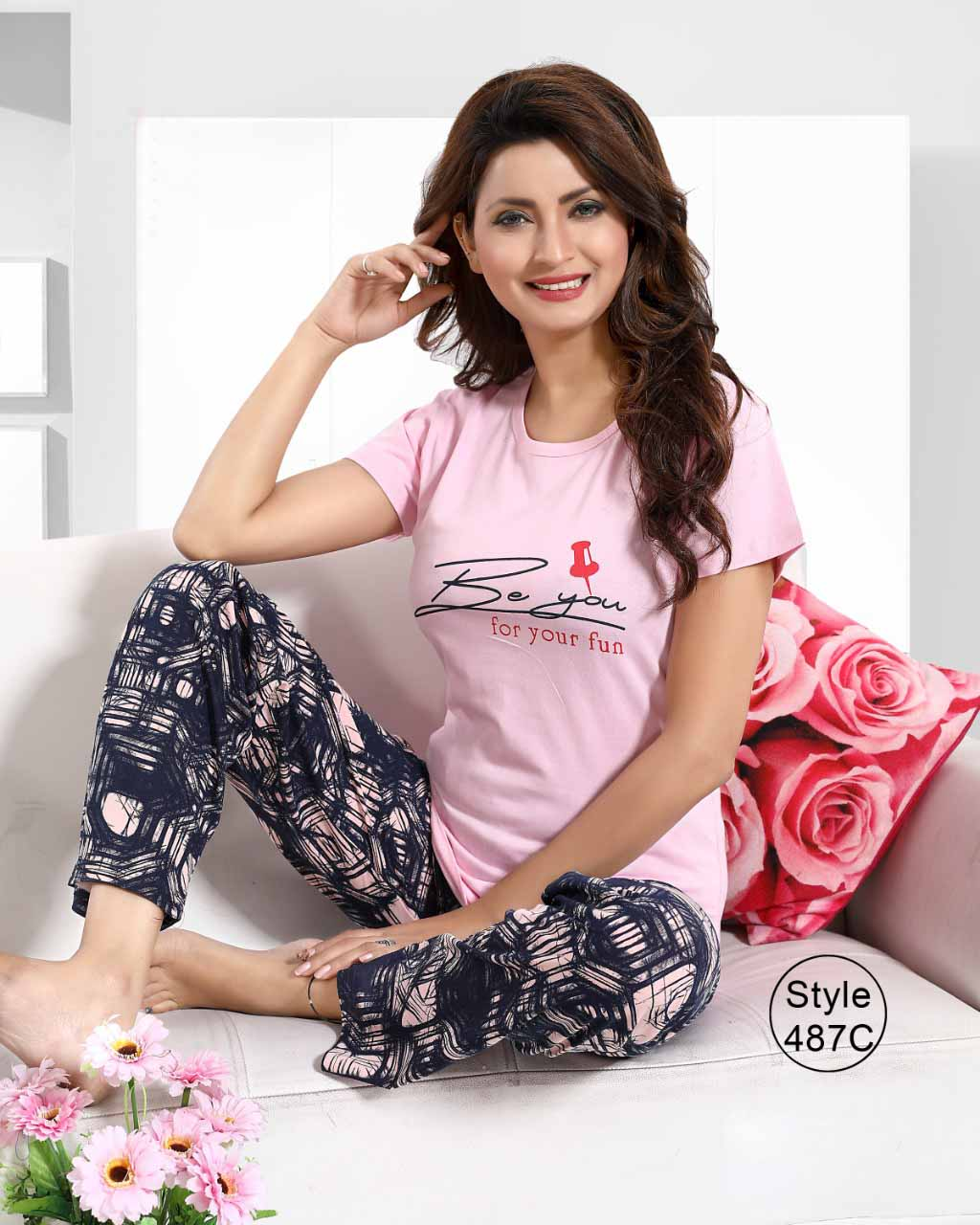 KC AUG 487 03 2019-PINK-NIGHT SUIT XXL SIZE ONLY