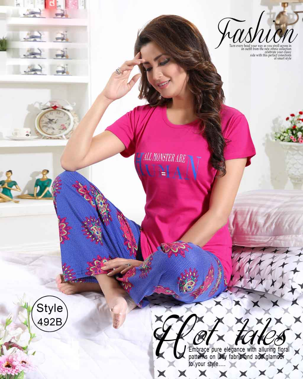 KC AUG 492 04 2019-PINK-NIGHT SUIT L SIZE ONLY