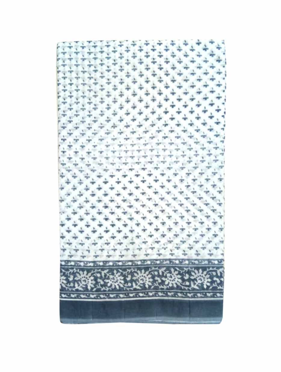 WMN COTTON SAREE WITHOUT BLOUSE-GRAY-AT MAY CTN 30