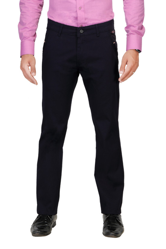 UTD 954 Navy Blue Casual Trouser