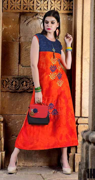 SMC DREAM GIRL 03-D NO 2 SLEEVELESS WOMEN KURTI