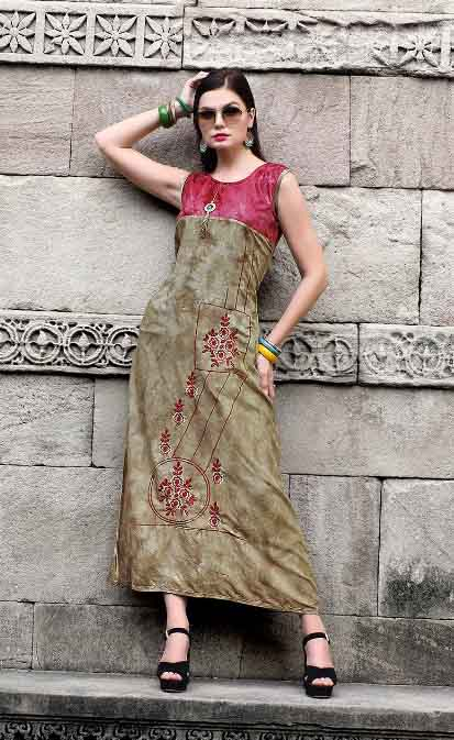 SMC DREAM GIRL 03-D NO 6 SLEEVELESS WOMEN KURTI