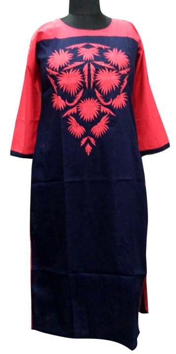 DT GEONEE - Red Cotton Kurti