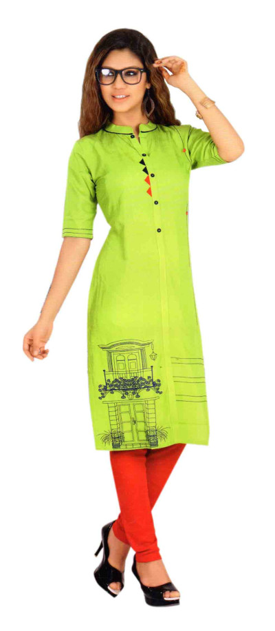 SC DULHAN-D NO 1 STYLISH COTTON LINEN KURTI