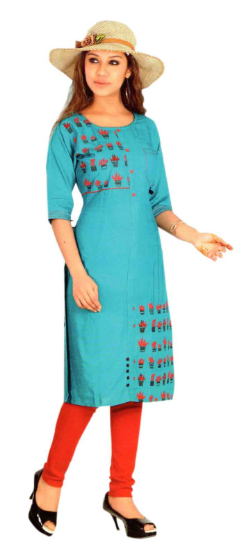 SC DULHAN-D NO 5 STYLISH COTTON LINEN KURTI