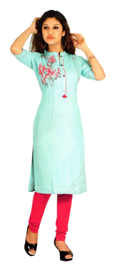 SC DULHAN-D NO 7 STYLISH COTTON LINEN KURTI