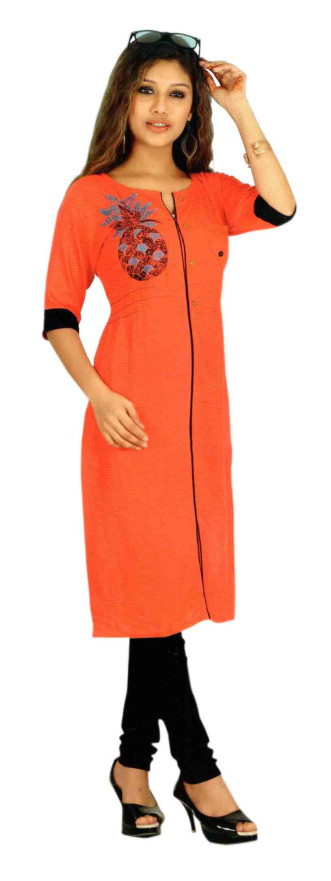 SC DULHAN-D NO 8 STYLISH COTTON LINEN KURTI