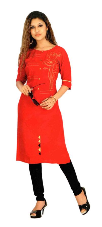 SC DULHAN-D NO 9 STYLISH COTTON LINEN KURTI