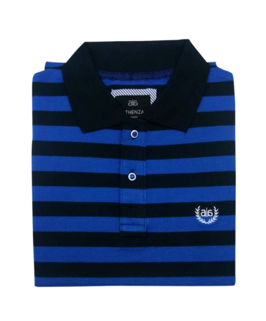 AI ST 132-NAVY / ROYAL BLUE POLO T SHIRT