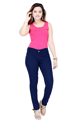 VA WDJ 03-DARK BLUE-WOMEN DENIM JEANS