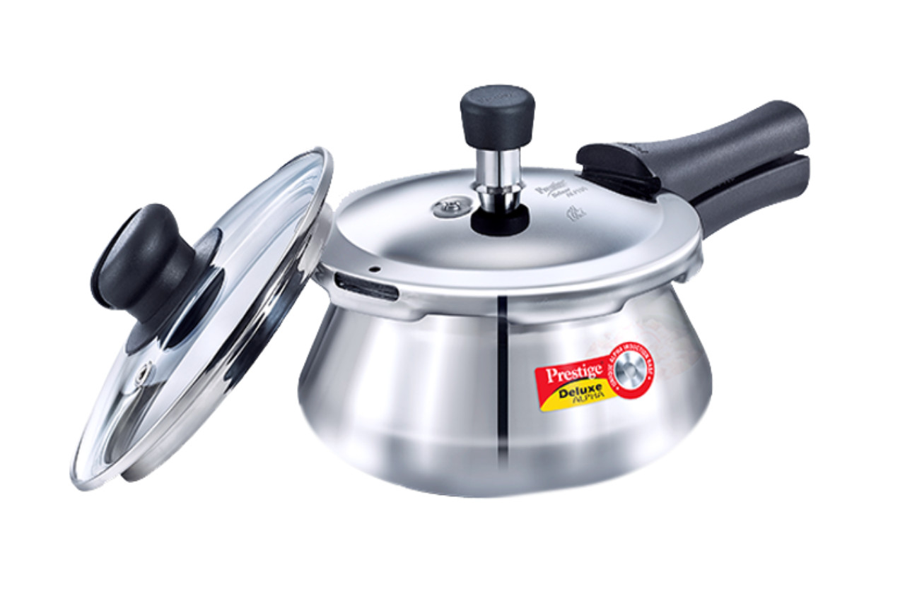 Ss Deluxe Alpha Pressure Cooker Handi With Glass Lid 1.5ltr