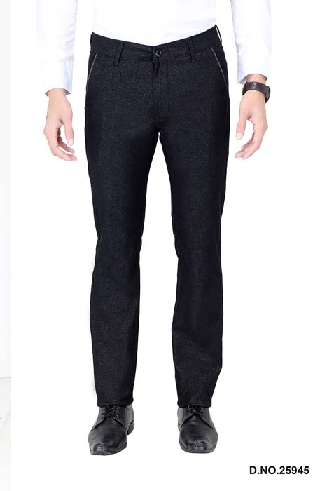 UTD ECO RANGE 10-BLACK CASUAL TROUSER