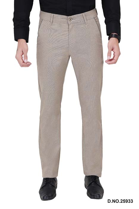 UTD ECO RANGE 10-CREAM CASUAL TROUSER
