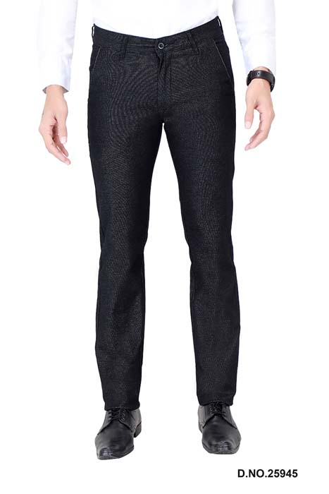 UTD ECO RANGE 9-BLACK CASUAL TROUSER