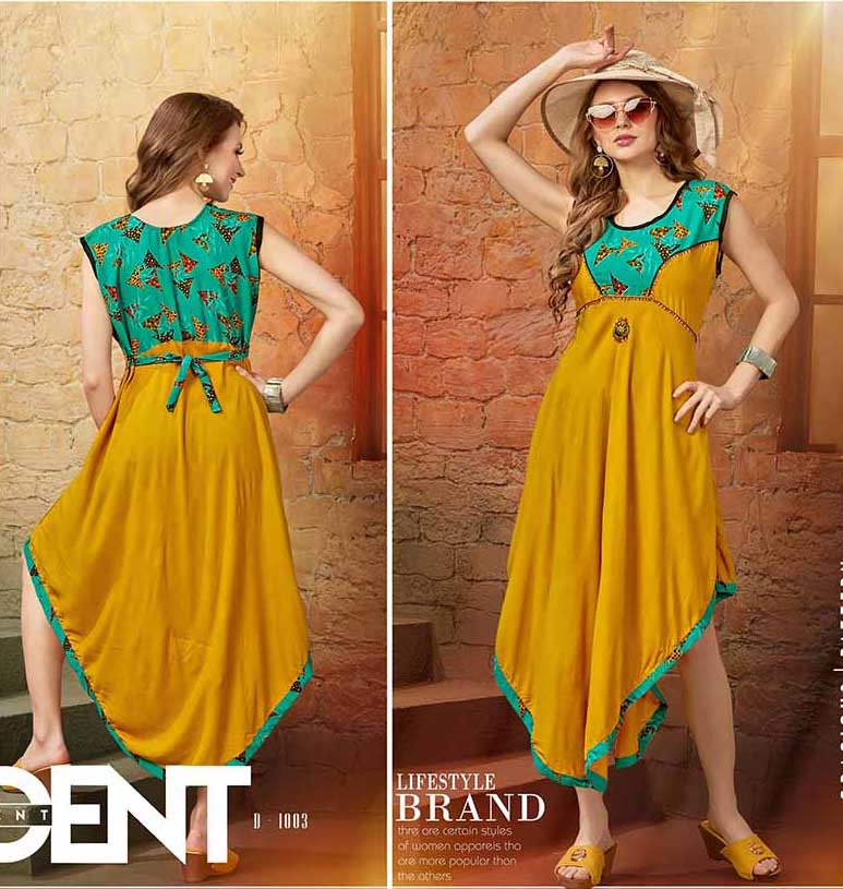 SMC AUG FALAK 2019-D NO1003 STYLISH SLEEVELESS KURTI